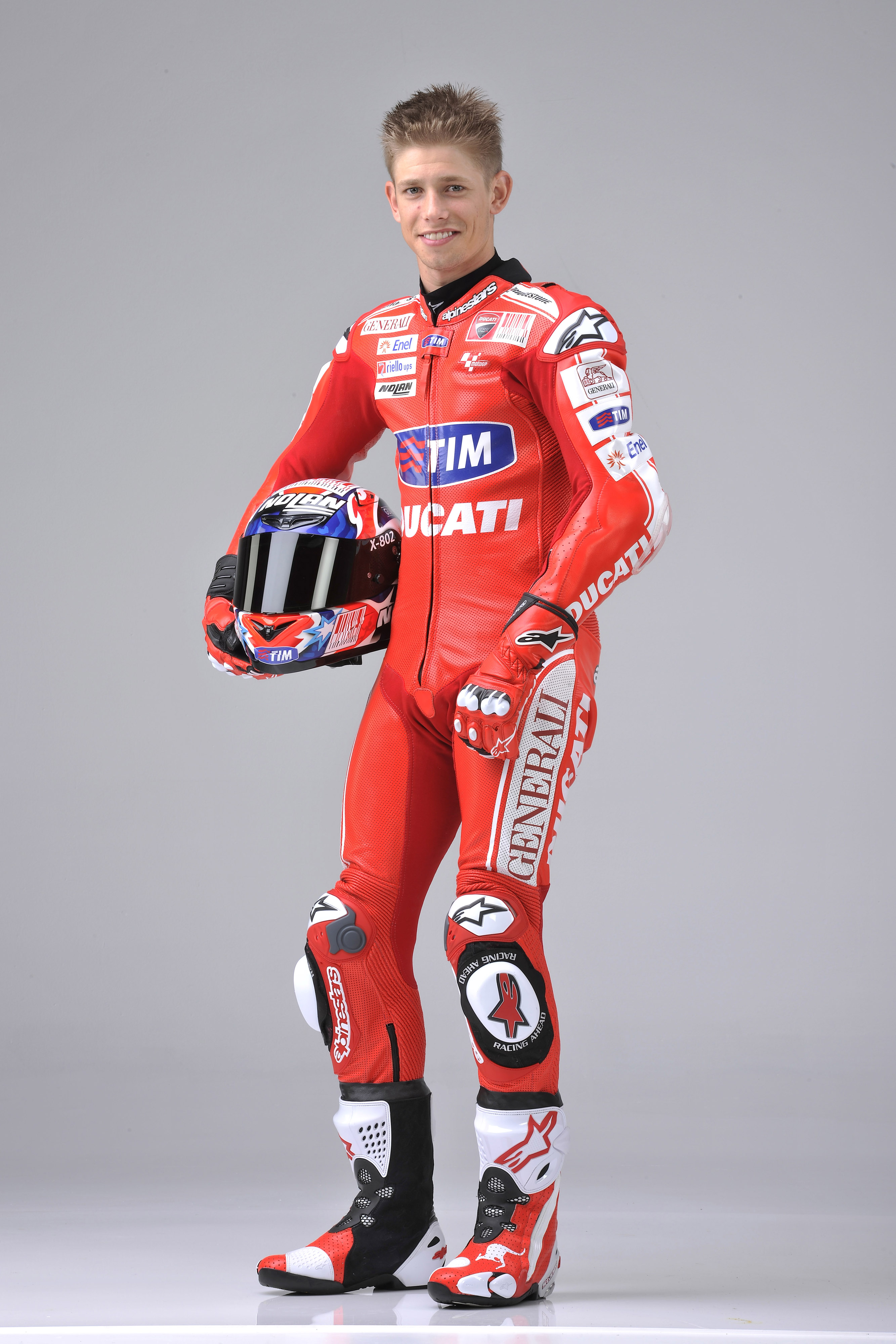 Casey Stoner, the two-time MotoGP world champ who left MotoGP to go fishing, is back with Ducati as their brand ambassador and test rider